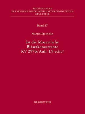 cover image of Ist die sogenannte Mozartsche Bläserkonzertante KV 297b/Anh. I,9 echt?