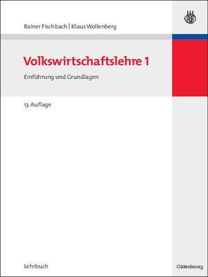 cover image of Volkswirtschaftslehre I