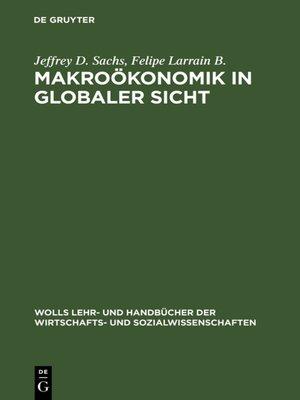 cover image of Makroökonomik in globaler Sicht