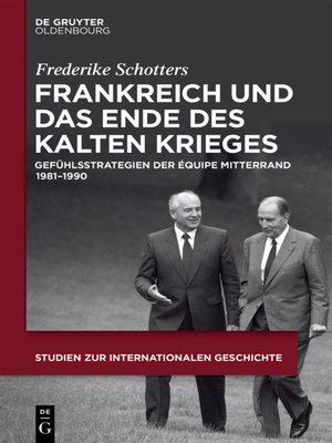 cover image of Frankreich und das Ende des Kalten Krieges