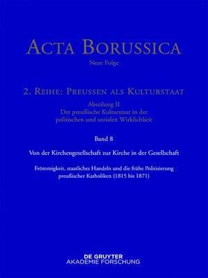 cover image of Von der Kirchengesellschaft zur Kirche in der Gesellschaft