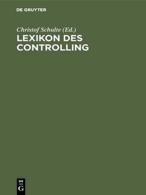 cover image of Lexikon des Controlling