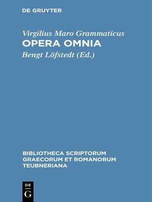 cover image of Opera omnia