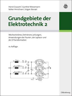 cover image of Grundgebiete der Elektrotechnik 2