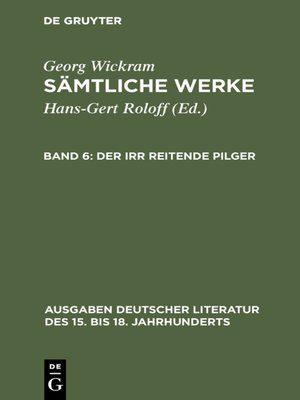 cover image of Der irr reitende Pilger