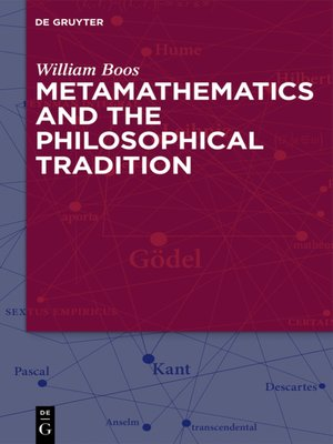 cover image of Metamathematics and the Philosophical Tradition