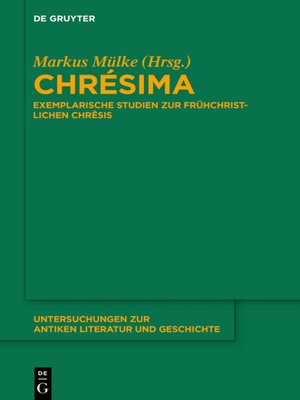 cover image of Chrésima