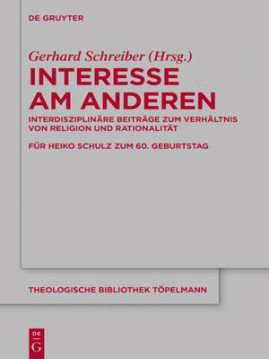 cover image of Interesse am Anderen