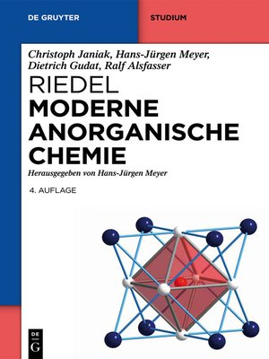 cover image of Riedel Moderne Anorganische Chemie