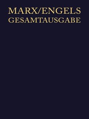 cover image of September 1857 bis Dezember 1858