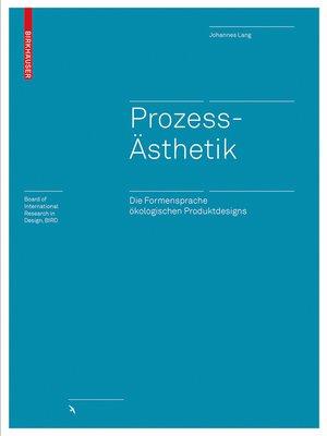 cover image of Prozessästhetik