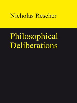 cover image of Philosophical Deliberations