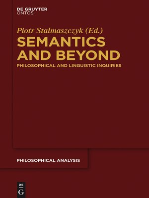 cover image of Semantics and Beyond