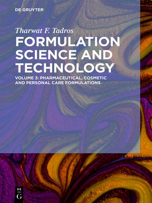 cover image of Pharmaceutical, Cosmetic and Personal Care Formulations
