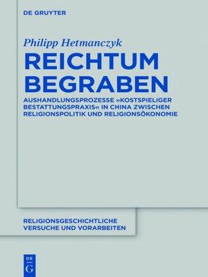 cover image of Reichtum begraben