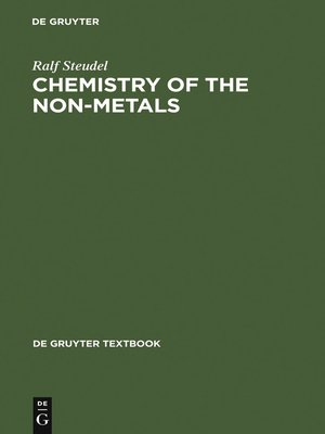 cover image of Chemistry of the Non-Metals