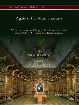 cover image of Against the Manichaeans