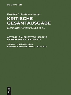 cover image of Briefwechsel 1802-1803