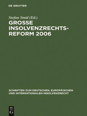 cover image of Große Insolvenzrechtsreform 2006