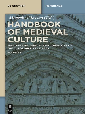 cover image of Handbook of Medieval Culture. Volume 1