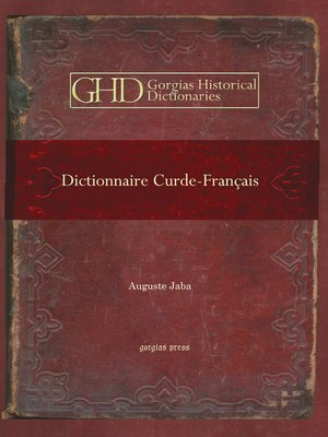 cover image of Dictionnaire Curde-Français
