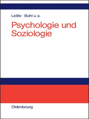 cover image of Psychologie und Soziologie