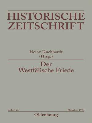 cover image of Der Westfälische Friede