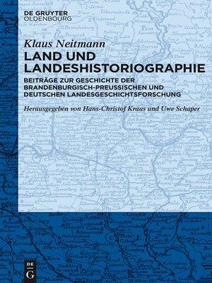 cover image of Land und Landeshistoriographie