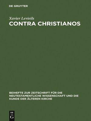cover image of Contra Christianos