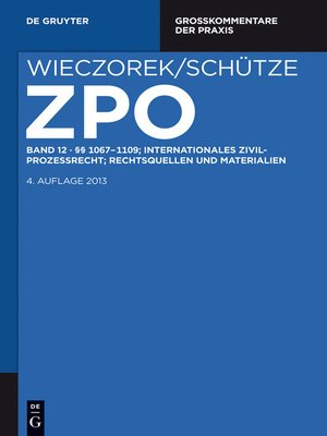 cover image of §§ 1067-1109; Internationales Zivilprozessrecht; Rechtsquellen und             Materialien