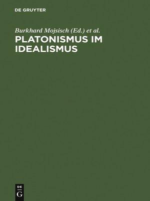 cover image of Platonismus im Idealismus