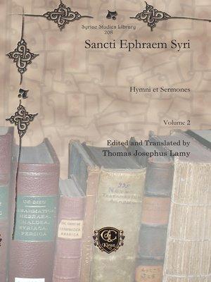 cover image of Sancti Ephraem Syri
