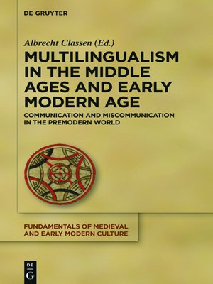 cover image of Multilingualism in the Middle Ages and Early Modern Age