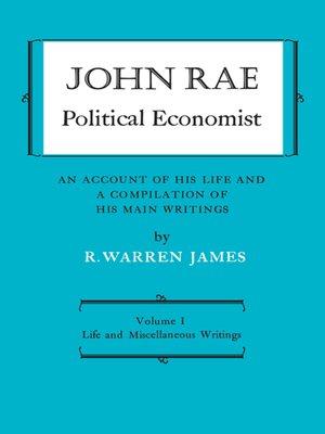 cover image of John Rae Political Economist