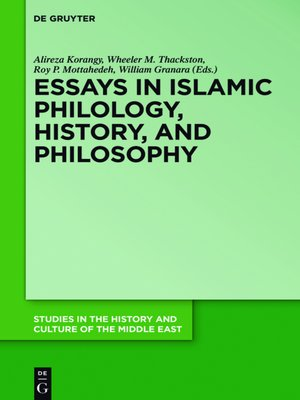 cover image of Essays in Islamic Philology, History, and Philosophy