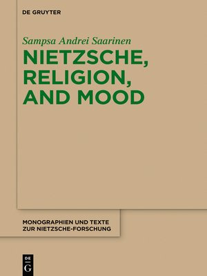 cover image of Nietzsche, Religion, and Mood