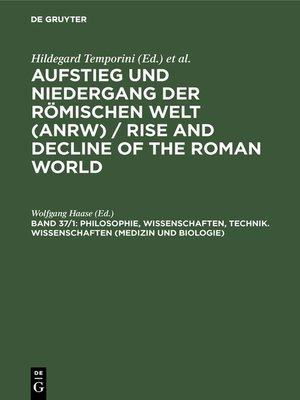 cover image of Philosophie, Wissenschaften, Technik. Wissenschaften (Medizin und Biologie)