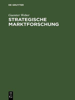 cover image of Strategische Marktforschung
