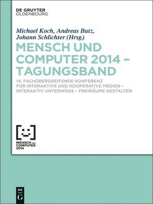 cover image of Mensch und Computer 2014 – Tagungsband
