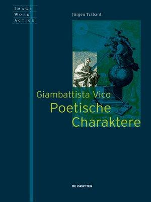cover image of Giambattista Vico--Poetische Charaktere