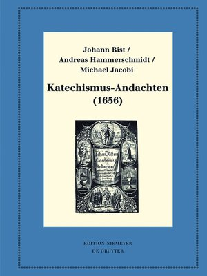 cover image of Katechismus-Andachten (1656)