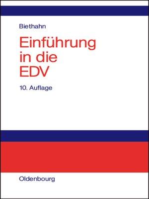 cover image of Einführung in die EDV für Wirtschaftswissenschaftler