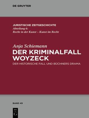 cover image of Der Kriminalfall Woyzeck