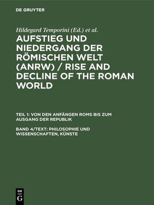 cover image of Philosophie und Wissenschaften, Künste