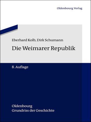 cover image of Die Weimarer Republik