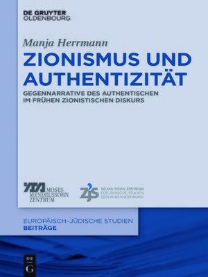 cover image of Zionismus und Authentizität