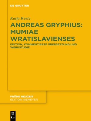 cover image of Andreas Gryphius