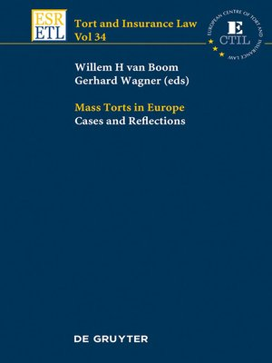 cover image of Mass Torts in Europe
