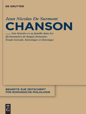 cover image of Chanson