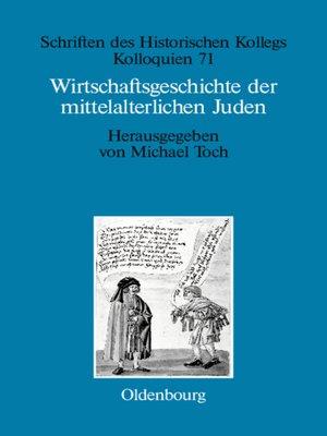 cover image of Wirtschaftsgeschichte der mittelalterlichen Juden